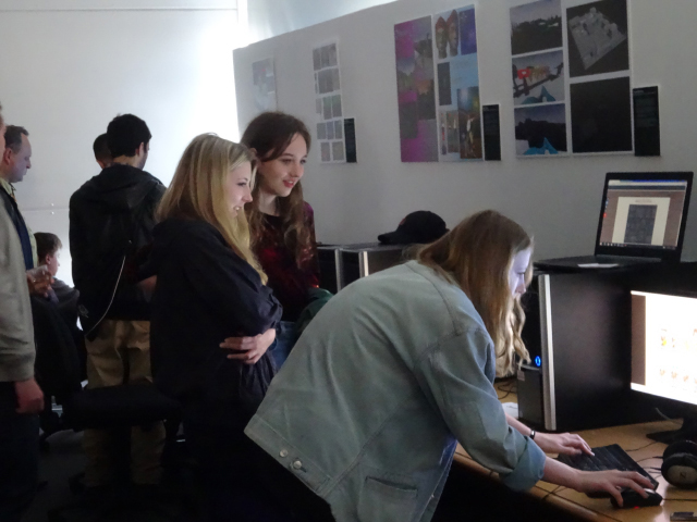 Picture of Visitors at Computer Games Design Final Year Show